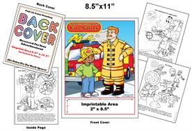 Safety-Fire - Imprintable Coloring & Activity Book