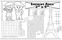 French Restaurant Imprintable Colorable Placemat