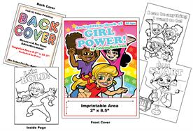 Girl Power - Imprintable Coloring Book