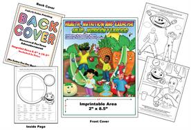 Health, Nutrition and Exercise - Imprintable Coloring Book