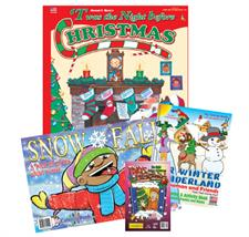 Holiday Pre-Packaged Set of 4 Coloring Books