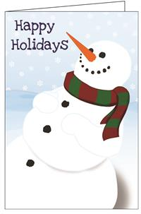 Holiday-Snowman Really Big Greeting Card
