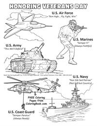 Free Online Coloring Pages - Veterans Day