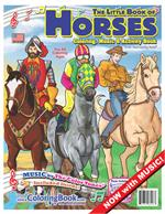 The Little Book of Horses Coloring Book with Music