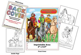 Horses - Imprintable Coloring & Activity Book