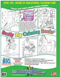 Horses Really Big Coloring Book with Song back cover