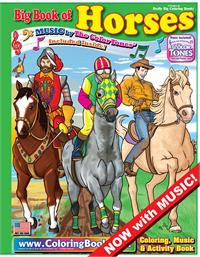 Horses Really Big Coloring Book with Horses Ride Song