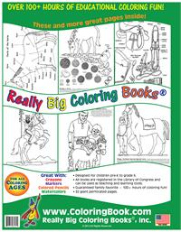 Horses Really Big Giant Coloring Book back cover