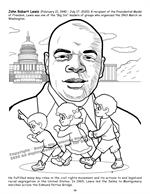 African American Leaders Coloring Book vol. 2 - John Lewis