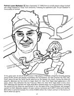 African American Leaders Coloring Book vol. 2 - Patrick Mahomes