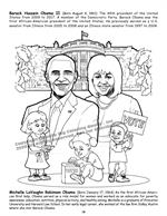 African American Leaders Coloring Book vol. 2 - Barack and Michelle Obama
