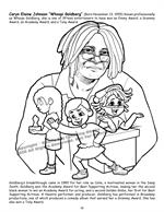 African American Leaders Coloring Book vol. 2 - Whoopi Goldberg