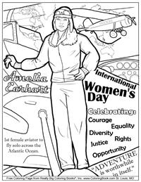 International Women's Day - Free Coloring Page