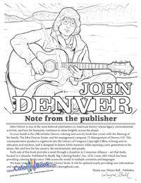 John Denver - Coloring Book - note from publisher