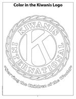 Kiwanis - Imprintable Coloring & Activity Book - inside page 2