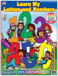 Learn My Letter and Numbers ABC-123 Really Big Coloring Book