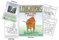 Longhorns Dont Like Fences by Mary Borgia