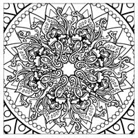 Magic Mandalas Coloring Book design 3