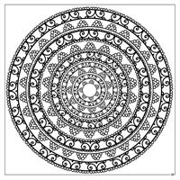 Magic Mandalas Coloring Book design 2