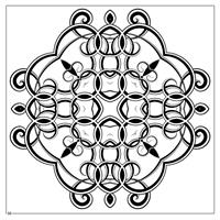 Magic Mandalas Coloring Book design 4