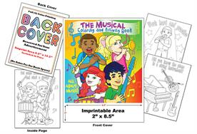 Music - Imprintable Coloring & Activity Book