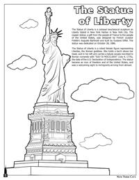New York City Coloring and Activity Book - Statue of Liberty