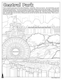 New York City Coloring and Activity Book - Central Park
