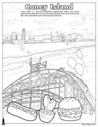 New York City Coloring and Activity Book - Coney Island