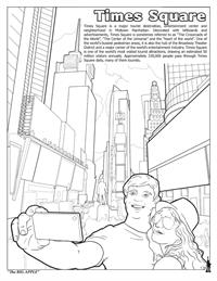 New York City Coloring and Activity Book - Times Square