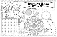 Pizza Fun Restaurant Imprintable Colorable Placemat