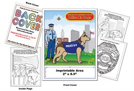 Police K9 Dogs - Imprintable Coloring & Activity Book