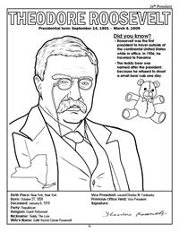 President Theodore Roosevelt Coloring Page