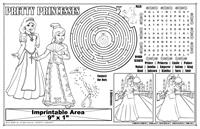 Pretty Princess Imprintable Colorable Placemat