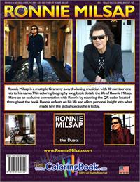 Ronnie Milsap Coloring Book - back cover