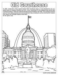 St. Louis Coloring Book - Old Courthouse
