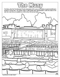 St. Louis Coloring Book - The Muny