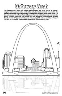 'Coloring in' Saint Louis Digest Coloring and Activity Book - Gateway Arch