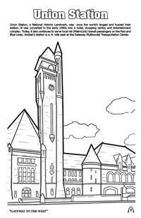 'Coloring in' Saint Louis Digest Coloring and Activity Book - Union Station