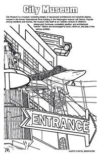 'Coloring in' Saint Louis Digest Coloring and Activity Book - City Museum