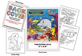 Sea Creatures - Imprintable Coloring & Activity Book