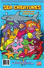 Sea Creatures Travel Tablet Coloring Book