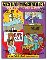 Sexual Misconduct - Name Them and Shame Them Coloring Book