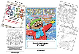 Snow Fall - Imprintable Coloring Book