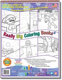 Snow Fall – Winter Poems Really Big Coloring Book - back