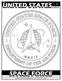 Celebrating U.S. Space Force - Free Online Coloring Page - seal