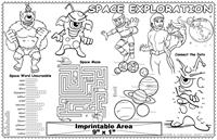 Space Exploration Imprintable Colorable Placemat