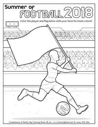 Summer of Football 2018 - Free Online Coloring Page