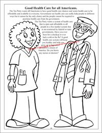 Health Care Coloring Page