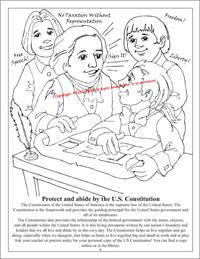 Tea Party Constitution Coloring Page