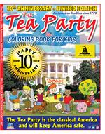 10th Anniversary Tea Party Coloring Book for Kids